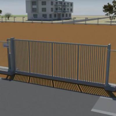 Porți auto culisante acces șantier